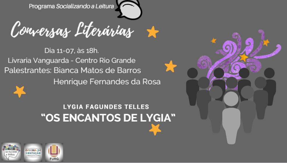 O projeto Conversas Literárias do Instituto de Letras e Artes (ILA) apresentará palestra sobre a escritora Lygia Fagundes Telles nesta quarta-feira, 11