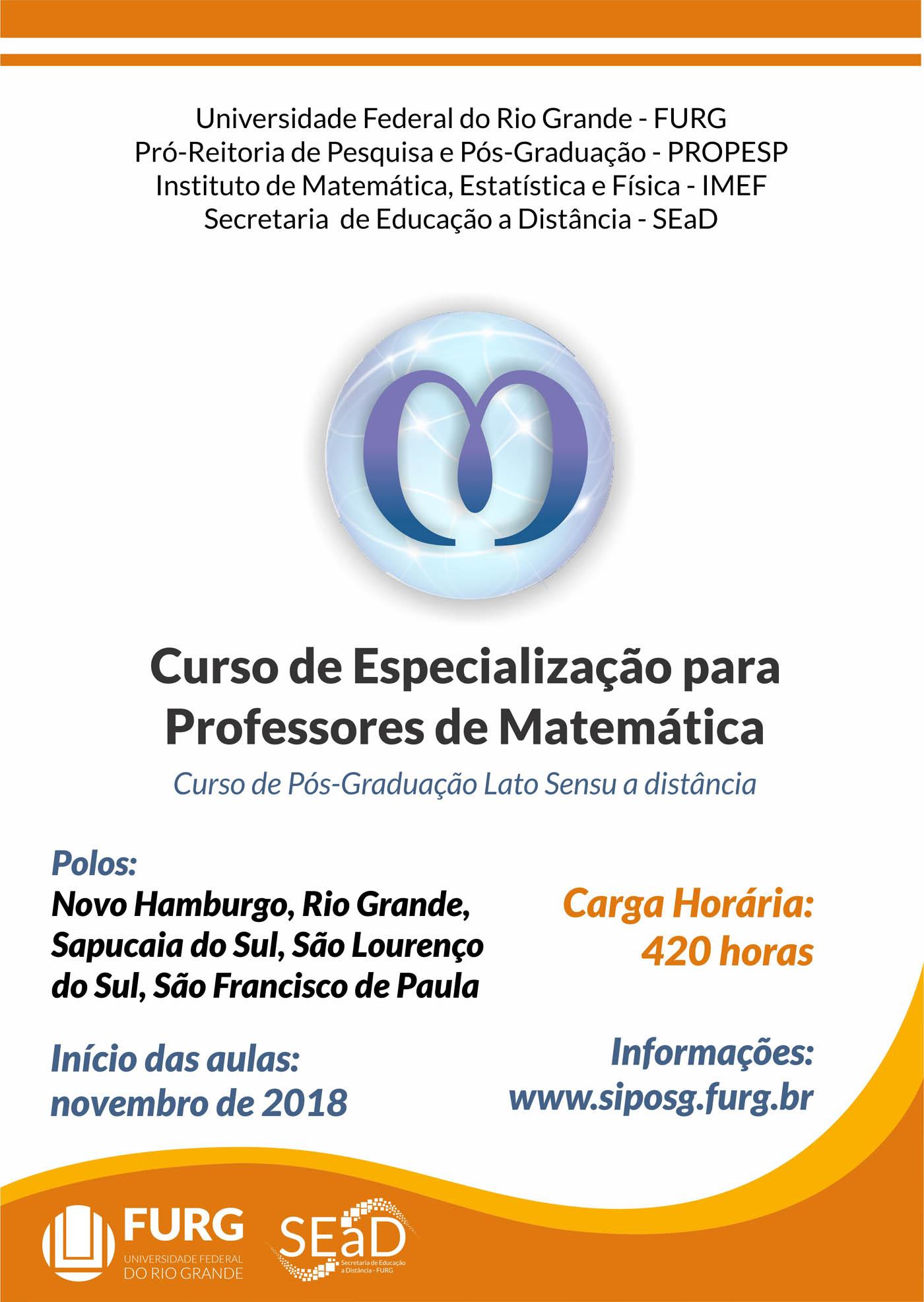 Especialização para Professores de Matemática